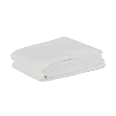 Tell Me More Cotton Pillowcase 65x65 cm 2 pack, Bleached White