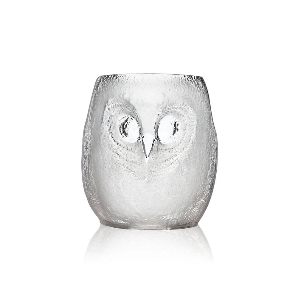 Målerås Glasbruk Strix Pöllö Tumbler Iso Kirkas