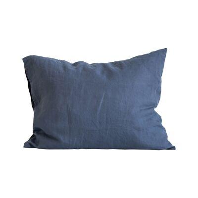 Tell Me More Linen Pillowcase 50x60 cm 2-pack, Navy Blue