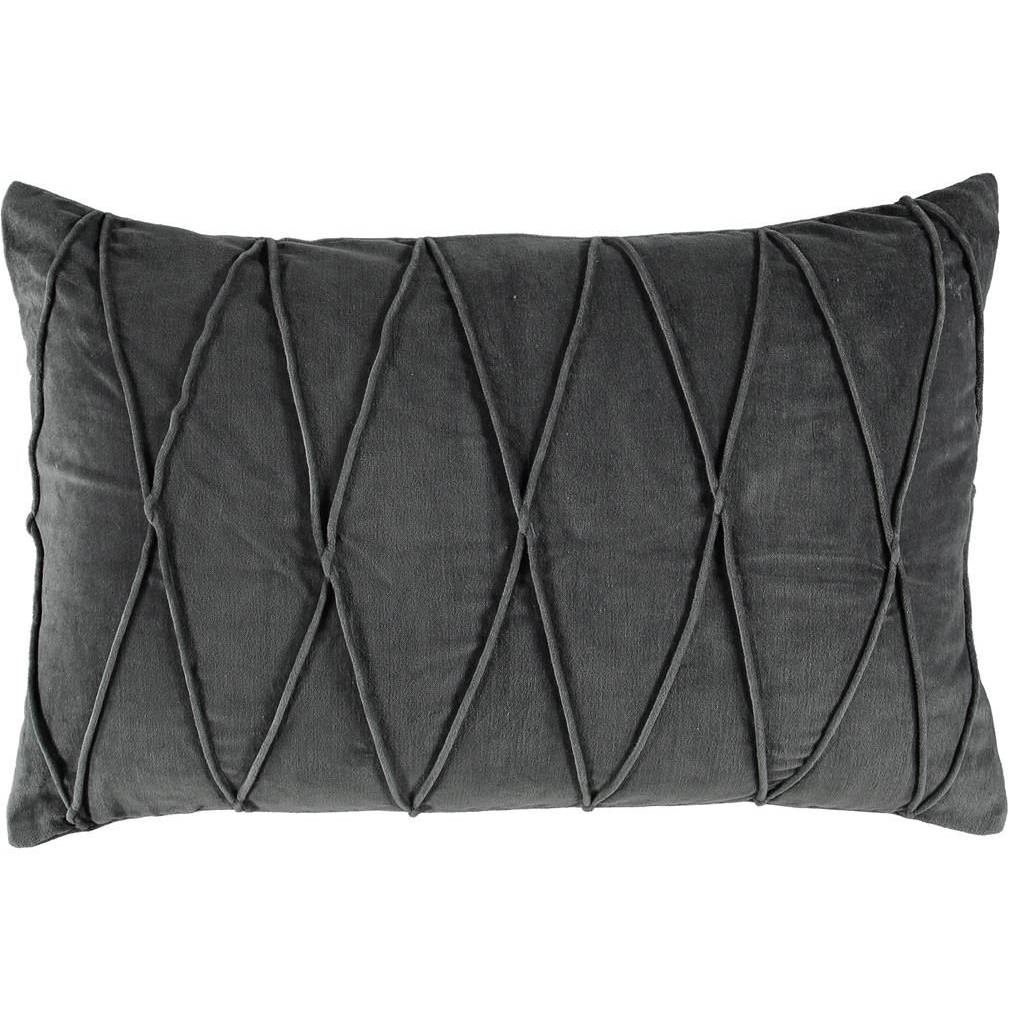 Gripsholm Ina Cushion Cover 40x60 cm, Anthracite