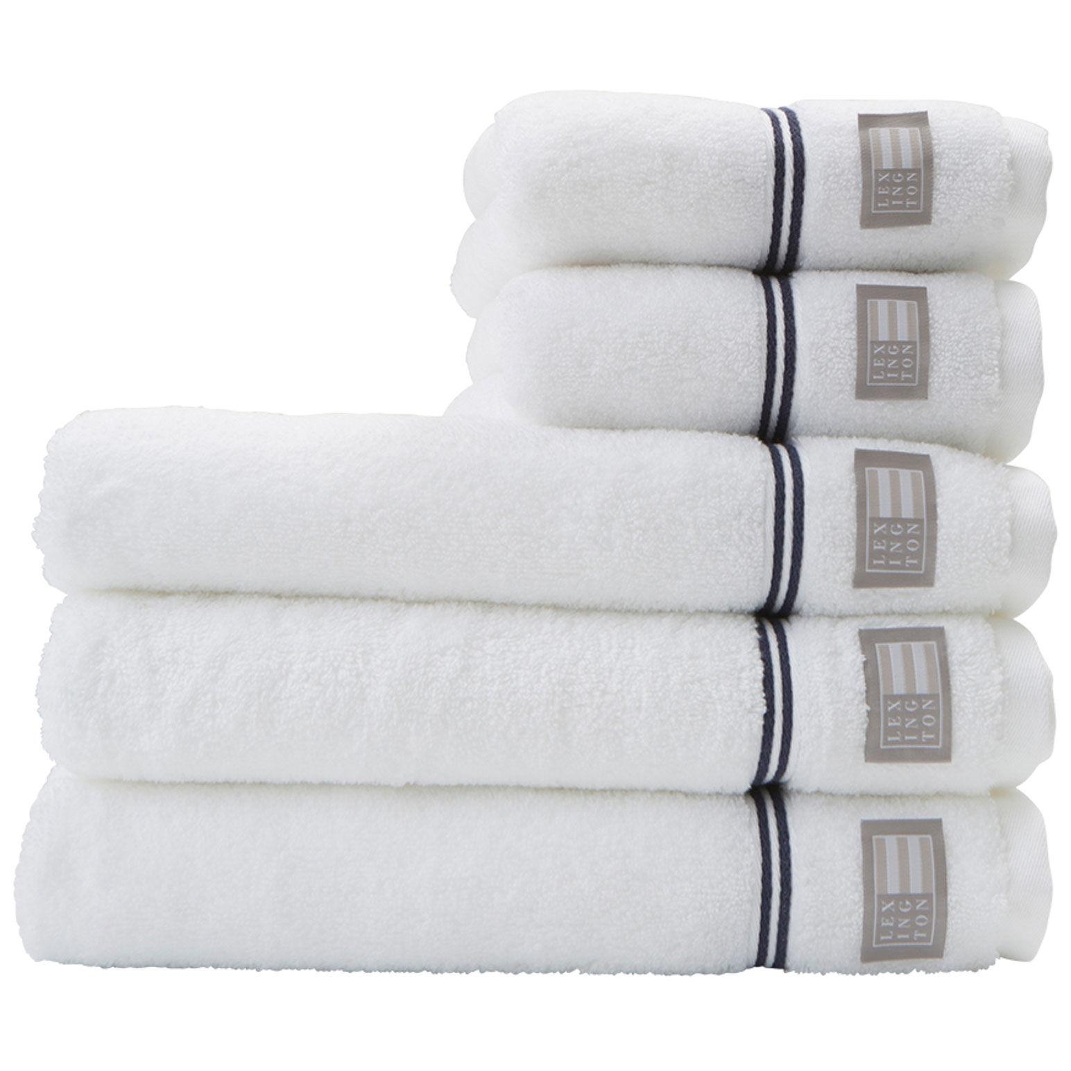 Lexington Hotel Towel 50x70 cm, White/Blue