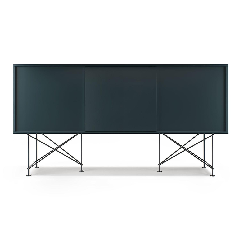Decotique Vogue Sideboard 180H, Harmaa/3G/Musta