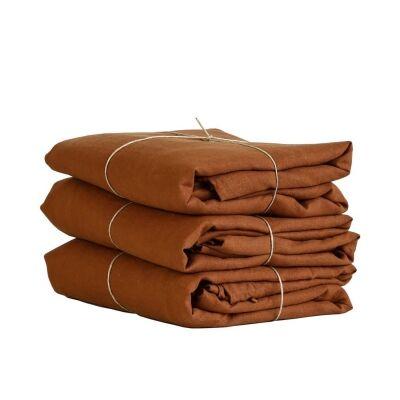Tell Me More Linen Duvet Cover 140x200 cm, Amber