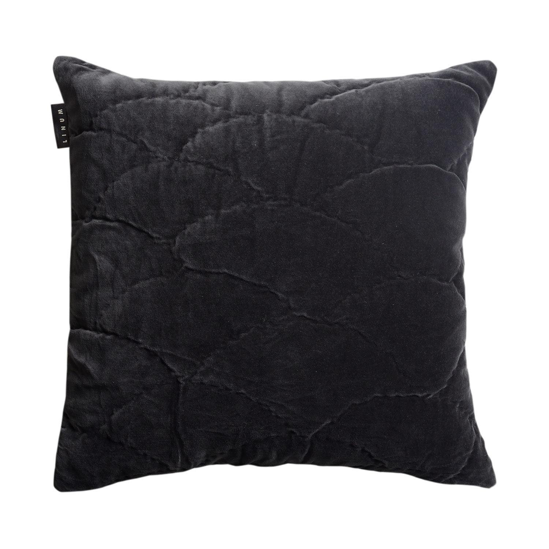 Linum Siena Tyynynpäällinen 50x50cm, Dark Charcoal Grey
