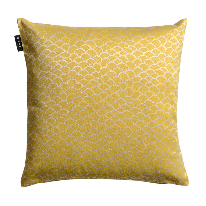 Linum Ascoli Tyynynpäällinen 50x50cm, Misted Yellow