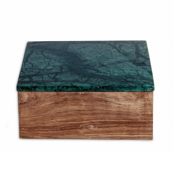 Nordstjerne Green Marble Säilytyslaatikko, Large, Puu/Marmori