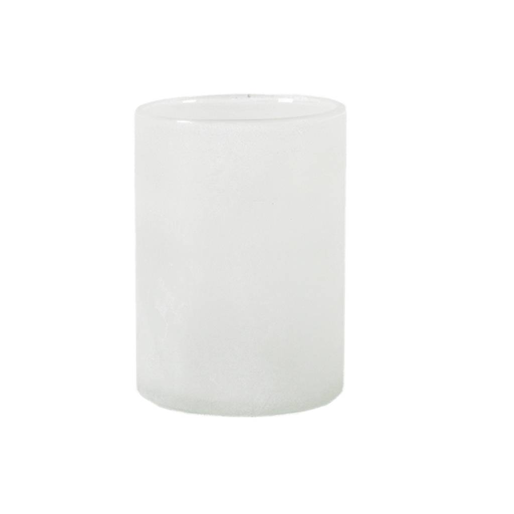Tell Me More Frost Candleholder L, White