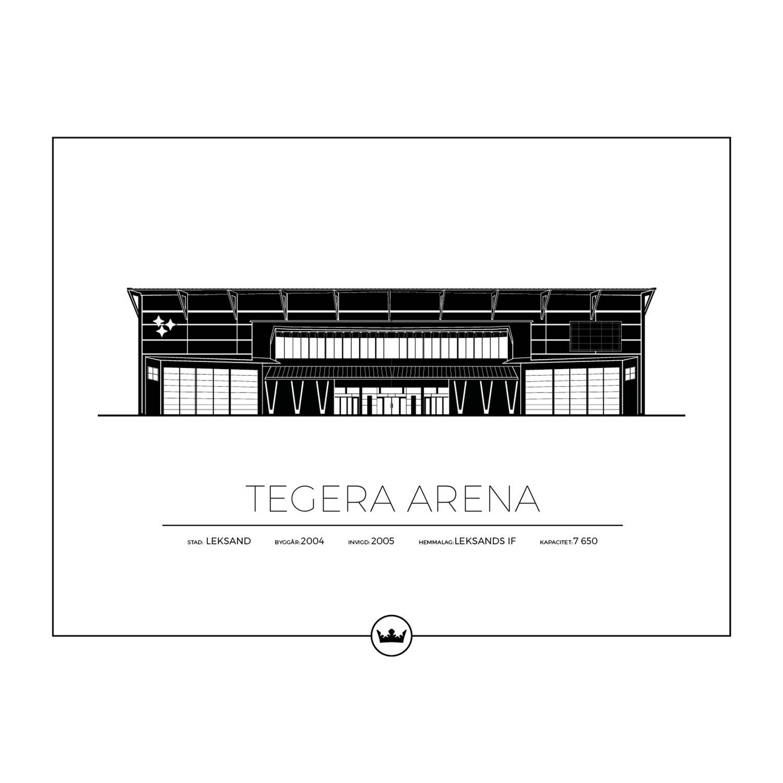 Sverigemotiv Tegera Arena Leksand Poster 40x50cm