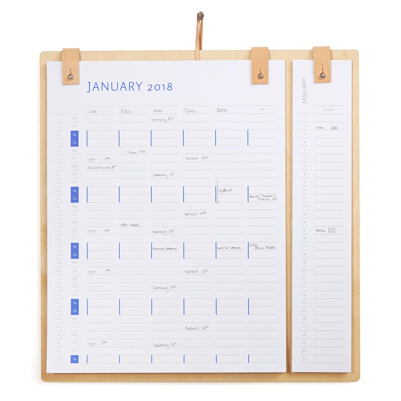 by Wirth Planner Board Seinäkalenteri 2018 & 2019