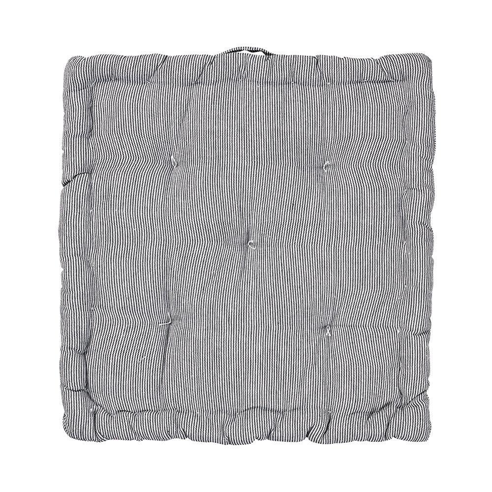 Broste Copenhagen Nava Istuinpehmuste 40x40 cm, Valkoinen/Musta