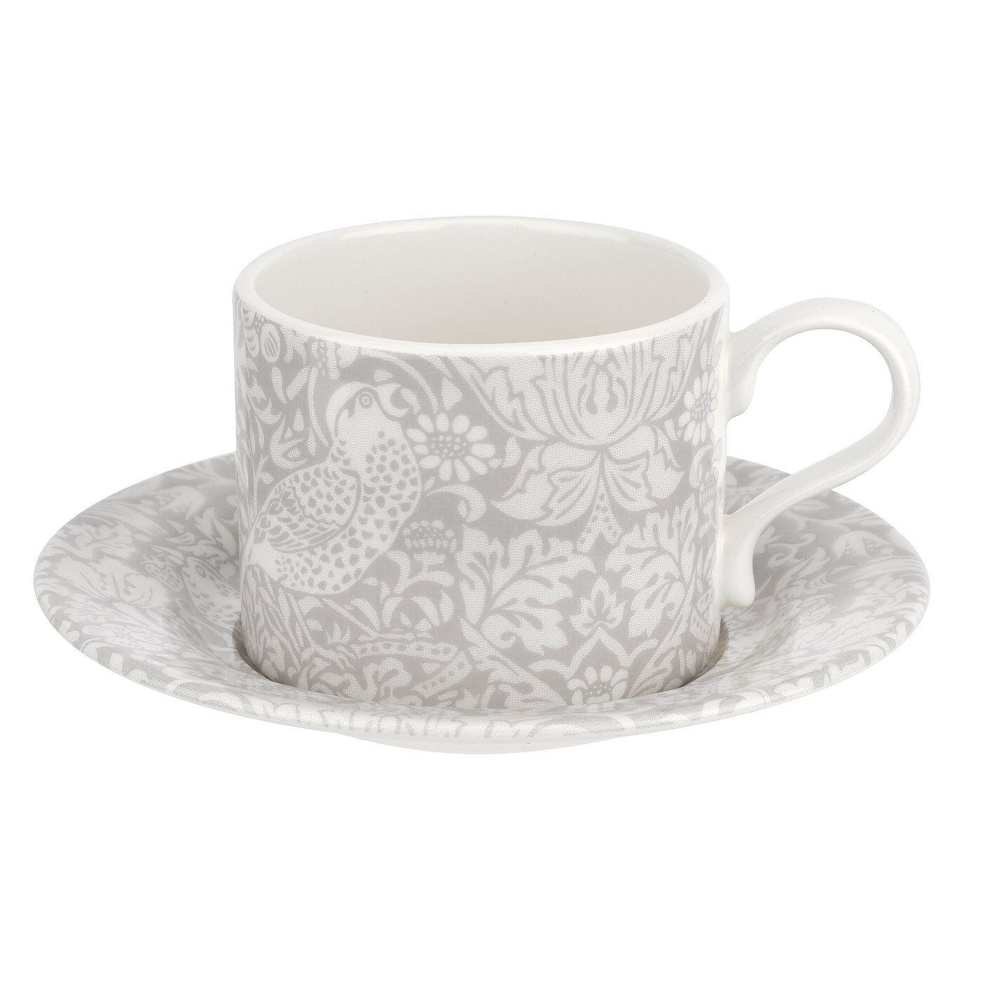 Spode Morris Strawberry Thief Tea Cup and Saucer, 28 cl