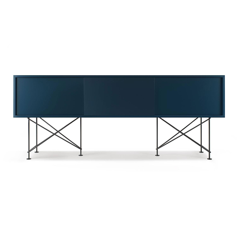 Decotique Vogue Mediakaluste 180cm, Tum.Sininen/Musta
