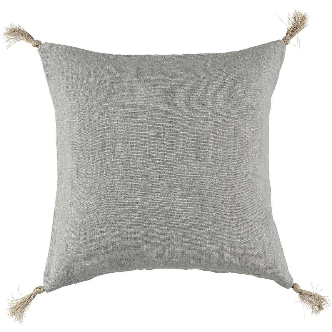 Gripsholm Linen Cushion Cover 50x50 cm, Light Grey