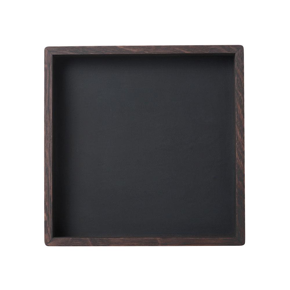 Louise Roe Small Square Tarjotin 28x28cm, Smoke/Linoleum