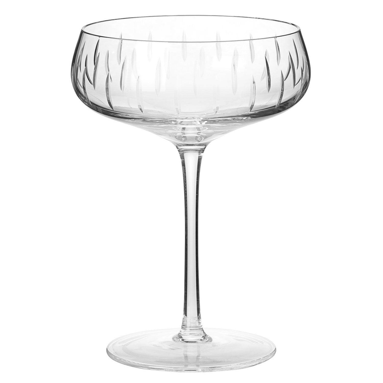 Louise Roe Crystal Glass Samppanjalasi, Kirkas
