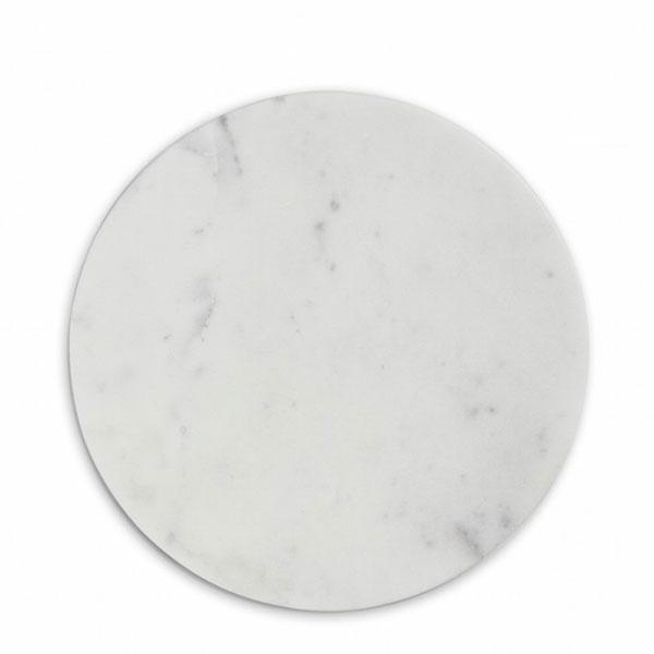 Nordstjerne White Marble Leikkuulauta, Pyöreä, Valkoinen