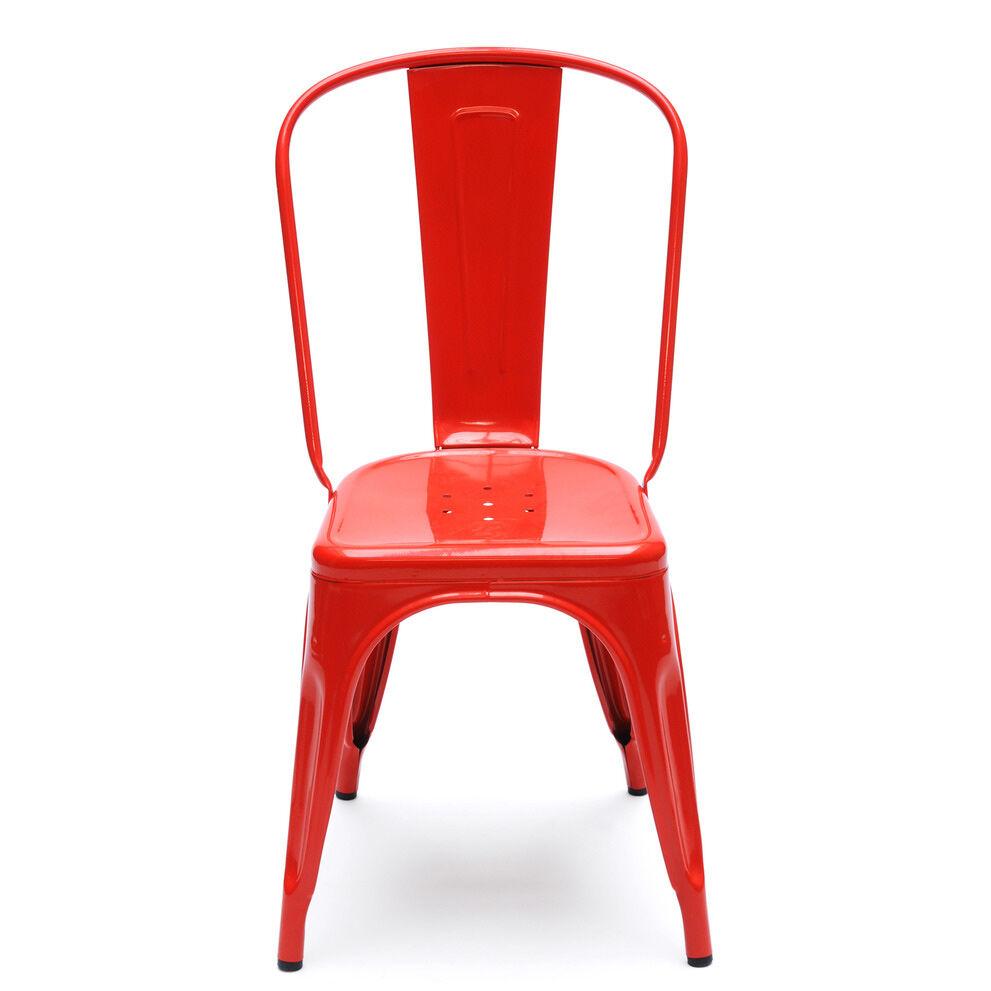 Tolix Tuoli A Punainen/Kiiltävä