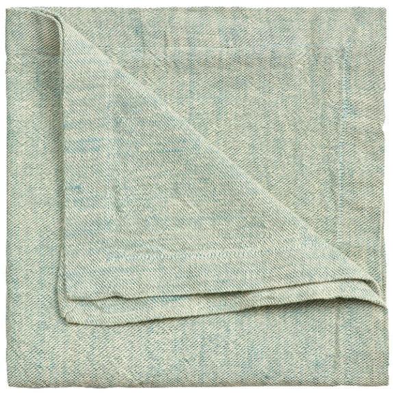 Linum Hedvig Napkin 45x45 cm, Bright Grey Turquoise