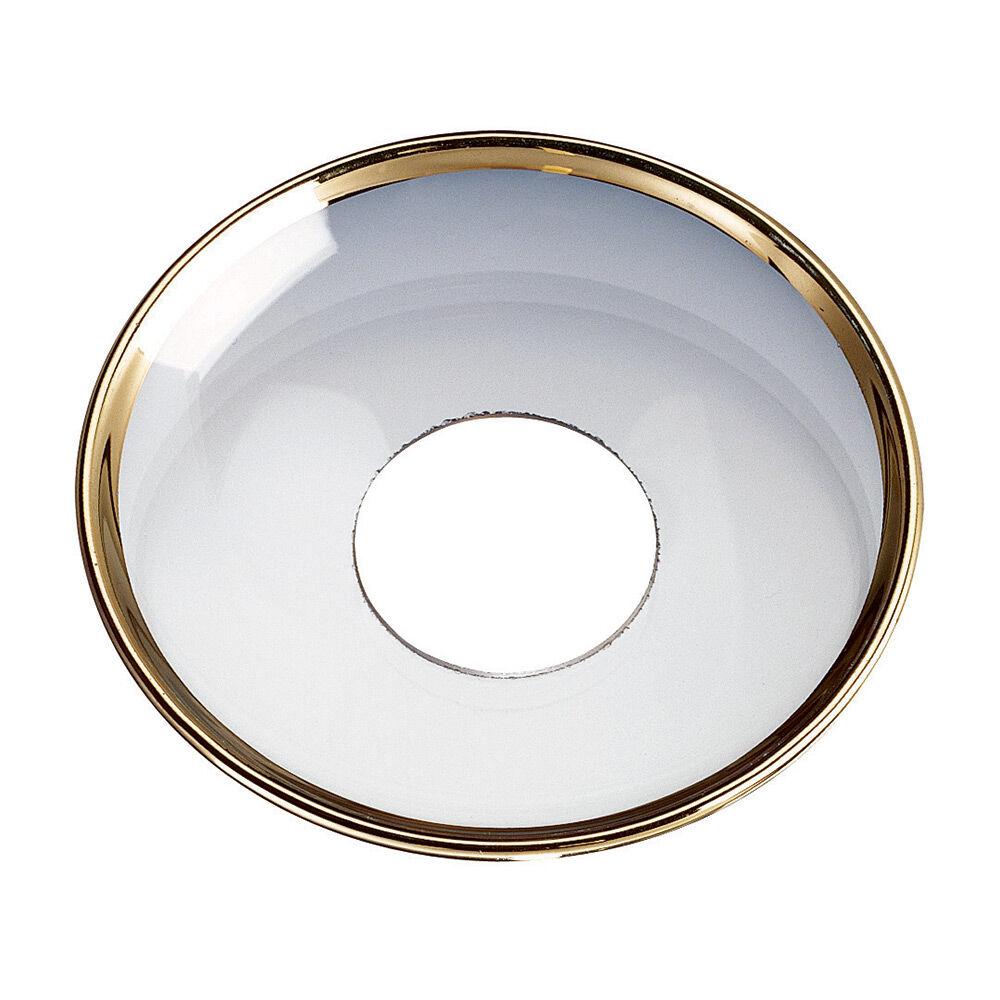 Nybro Crystal Candle Ring, Gold Border