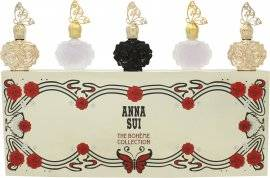 Anna Sui Miniature Gift Set 4ml Flight of Fancy EDT + 4ml Lucky Wish EDT + 5ml Fantasia EDT + 4ml Secret Wish EDP + 4ml Romantica EDT
