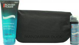 Biotherm Homme Aquafitness Gift Set 200ml Shower Gel + 50ml Shaving Foam + Beauty Case