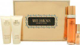 Taylor Elizabeth Taylor White Diamonds Gift Set 100ml EDT + 100ml Body Lotion + 100ml Body Wash  + 10ml EDT