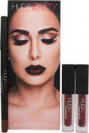 Huda Beauty Vixen & Famous Lip Contour Gift Set 2 x 1.9ml Liquid Lipsticks + 1.2g Lip Liner