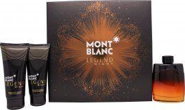 Mont Blanc Legend Night Gift Set 100ml EDP + 100ml Aftershave Balm + 100ml Shower Gel