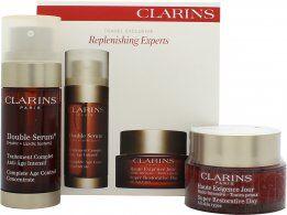 Clarins Replenishing Experts Gift Set 50ml Super Restorative Day Cream + 30ml Double Serum Age Control