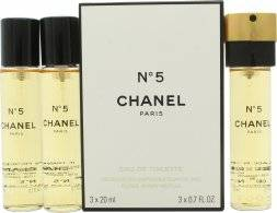 Chanel N°5 Lahjasetti 3 x 20ml EDT Täyttöpakkaus