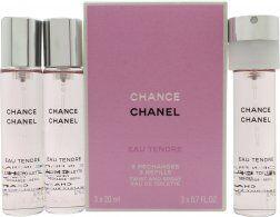Chanel Chance Eau Tendre Eau de Toilette Täyttöpulloja 3 x 20ml Suihke