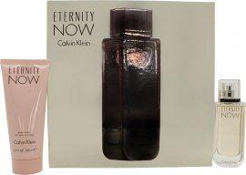Calvin Klein Eternity Now For Her Gift Set 50ml EDP Spray + 100ml Body Lotion