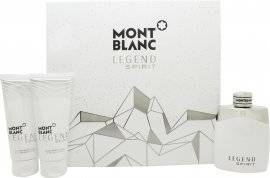 Mont Blanc Legend Spirit Gift Set 100ml EDT + 100ml After Shave Balm + 100ml All Over Shower Gel