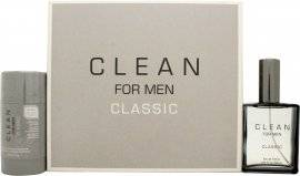 Clean Classic Man Gift Set 60ml EDT + 75g Deodorant Stick