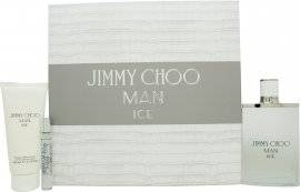 Image of Jimmy Choo Man Ice Gift Set 100ml EDT + 100ml Aftershave Balm + 7.5ml EDT