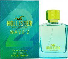 Hollister Wave 2 For Him Eau De Toilette 50ml Spray