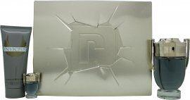 Paco Rabanne Invictus Gift Set 100ml EDT + 100ml All Over Shampoo + 5ml EDT
