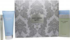 Dolce & Gabbana Light Blue Gift Set 100ml EDT + 100ml Body Lotion + 10ml EDT