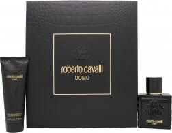 Roberto Cavalli Uomo Gift Set 60ml EDT + 75ml Shower Gel
