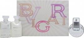 Bvlgari Omnia Crystalline Gift Set 40ml EDT Spray + 40ml Body Lotion + 40ml Bath and Shower Gel