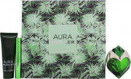 Thierry Mugler Aura Gift Set 30ml EDP Reffilable + 50ml Body Lotion + Perfume Pen