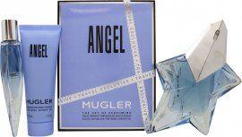Thierry Mugler Angel Gift Set 50ml EDP Refillable + 10ml EDP + 50ml Shower Gel