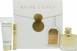 Ralph Lauren Woman By Ralph Lauren Gift Set 50ml EDP + 10ml EDP + 75ml Body Lotion