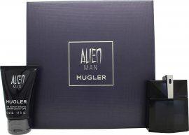 Thierry Mugler Alien Man Gift Set 50ml EDT Refillable + 50ml Shower Gel