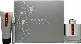Prada Luna Rossa Gift Set 100ml EDT + 100ml Shower Gel + 10ml EDT
