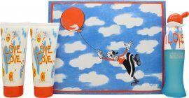 Moschino Cheap & Chic I Love Love Gift Set 50ml EDT + 100ml Body Lotion + 100ml Shower Gel