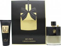 Carolina Herrera CH Men Prive Gift Set 100ml EDT + 100ml Aftershave Balm