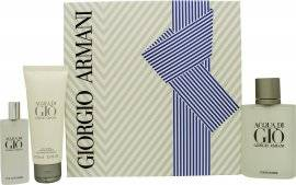 Image of Giorgio Armani Acqua Di Gio Gift Set 100ml EDT + 75ml Shower Gel + 15ml EDT