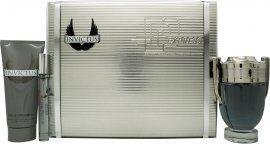 Paco Rabanne Invictus Gift Set 100ml EDT + 100ml Shower Gel + 10ml EDT