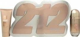 Image of Carolina Herrera 212 VIP Rosé Gift Set 80ml EDP Spray + 100ml Body Lotion
